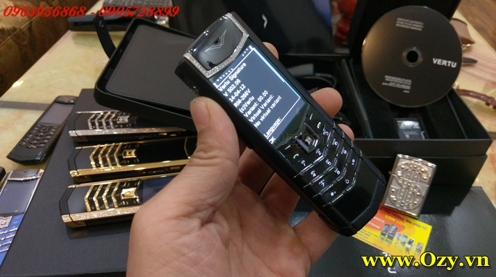 Vertu signature s black diamonds